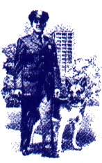 Graphic of policeman and canine